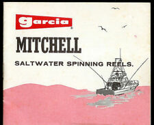 Garcia Mitchell Saltwater Spinning Reels Fishing Instruction Casting Info Manual