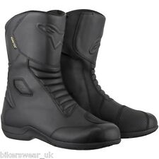 Alpinestars Web Gore-Tex Waterproof/Breathable Motorcycle Leather Boots Black