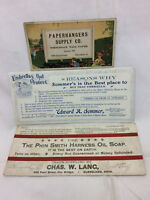 3 Vtg  Advertising Ink Blotters Cleveland, Ohio Paperhangers Supply Lang Sommer