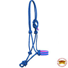 Turquoise Cord Horse Halter Braided Poly Rope Western Tack Hilason