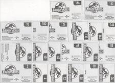 PANINI - JURASSIC WORLD - 20 FIGURINE CON VELINE - COME IN FOTO