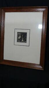 "Sir Lionel Lindsay (1874-1961) RARE Original Woodcut  : ""The Fountain"" 1922"