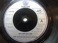 """Spencer Davis Group – Mr Operator 1973 7"""" Vertigo 6059 082"""