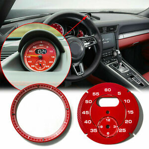 For Porsche Cayman 911 Macan Cayenne Boxster Panamer Red Dial Clock Gauge Chrono