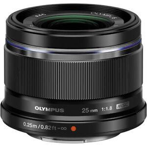 Olympus M.Zuiko 25mm f/1.8 Micro Four Thirds Lens - Black