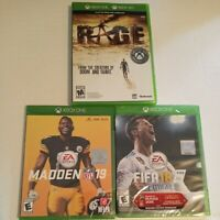 Xbox One Game Lot 3 Games: RAGE, Madden NFL 19, FIFA18 New
