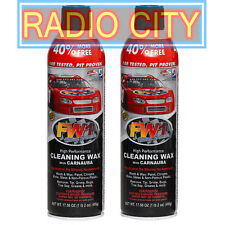 FW1 Fast Wax Carnauba Waterless Wash & Wax Cleaning Polish Spray 17.5oz 2-Pack