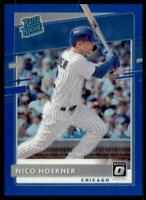 2020 Donruss Optic Rated Rookies Blue #38 Nico Hoerner /75 - Chicago Cubs