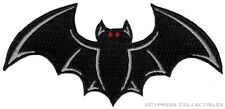 VAMPIRE BAT iron-on PATCH embroidered black HALLOWEEN SOUVENIR APPLIQUE wings