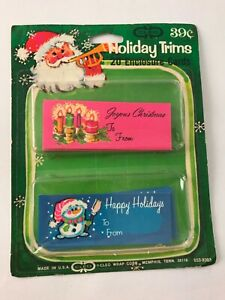 VTG Cleo Wrap Corp. 20 Christmas Holiday Cards Tags To and From Pink Blue NOS