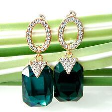 Navachi Green Zircon 18K GP  Crystal Ear Stud Earrings Earring BH2504