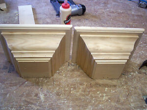 TWO 10 x 6 x 4.3/4 FLOATING WALL SCONCE / SHELF, MANTLE, DISPLAY, CORBELS