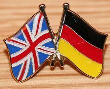 UK & GERMANY German FRIENDSHIP Flag Metal Lapel Pin Badge Great Britain