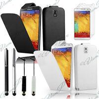 Étui Clapet Simili Cuir Télephone Portable Samsung Galaxy Note 3 III N9000 N9005