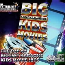 Mr Entertainer Karaoke CDG - The Big Kids Movie Hits - Double CD+G Discs 2 Disc