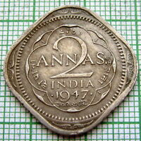 INDIA BRITISH GEORGE VI 1946 2 ANNAS, BOMBAY MINT