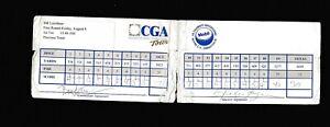Bill Laimbeer & Rollie Fingers signed CGA Scorecard 95 Mobil Celebrity CAS COA