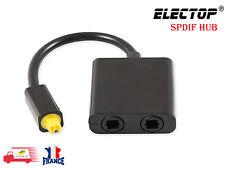Répartiteur Audio optique SPDIF Splitter Fibre Numérique Toslink 1En2 Sortie