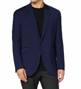 Hackett HPSACK navy CC blazer - textured, partially lined, wool mix
