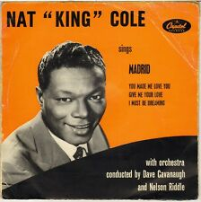 """NAT KING COLE """"MADRID"""" POP VOCAL JAZZ 50'S EP CAPITOL FEAP 107"""