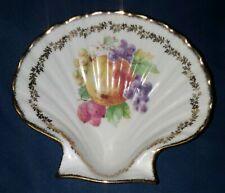 Gilded Shell Dish 1949 Porcelain Schwarzenhammer Bavaria Germany Gold