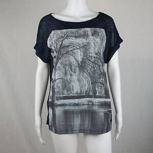 MNG Jeans Basic Tee Short Sleeve T Shirts Black US Size Medium