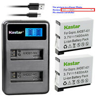 Kastar Battery Charger for GoPro HERO4, GoPro AHDBT-401, AHBBP-401 Sport Cameras