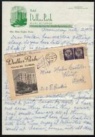 1958 Dallas Park Hotel, Miami Florida, cover & 2 page letter