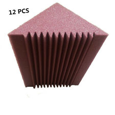12 PCS Burgundy Bass Trap Corner Sound proof Foam Size in 12CM x 12CM x 24CM