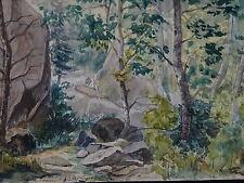 DESSIN AQUARELLE XIX BONNEVAL VALLEE L'ARC VANOISE MAURIENNE SAVOIE ALPES 1880 b