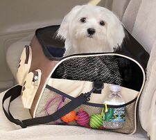 Pet Store : Paw Print Car Seat and Pet Carrier - Pet Booster Seat - Pet Supplies