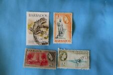 4 Barbados postage stamps philately philatelic kiloware Caribbean