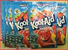 25 Kool-Aid Mixed Berry unsweetened Drink Mix Fresh Expires 2020