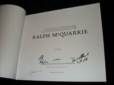 Star Wars Art: Ralph McQuarrie 1st printing hardcover books signed by 4 authors
