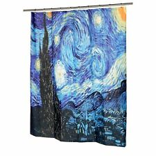 "Carnation Museum The Starry Night Polyester Fabric Shower Curtain 70""x72"""
