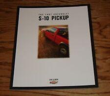 Original 1997 Chevrolet Truck S-10 Pickup Sales Brochure 97 Chevy