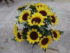 künstliche Blumen  pflanzen  blumen dekoartik Grabgesteck  Sonnenblumen