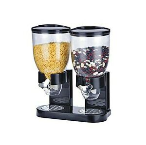 Double Plastic Classic Cereal Dispenser Kitchen Dry Food Dispenser Cereal Dis...