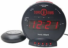 Sonic Bomb Alert Boom SBB500ss Loud Plus Vibrating Alarm Clock with Bed Shaker
