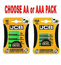 LOOK!! JCB AA or AAA Rechargeable BATTERIES NiMH 1200/900mAh Battery Long Life!