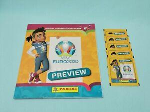 Panini Euro EM 2020 Preview Sticker Sammelalbum + 5 Tüten  Int. Edition