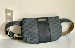 MICHAEL KORS MK CHARCOAL BLACK HIP PACK / FANNY PACK BELT BAG SMALL / MEDIUM