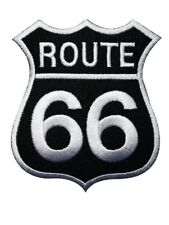 US ROUTE 66 CAR MOTORCYCLE BIKER JACKET BADGE Embroidered Iron Sew On Patch