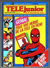 TELE JUNIOR n°33 ¤ 1980 ¤ GOLDORAK / SPIDER-MAN / AVEC LES 4 FICHES HEROS TELE