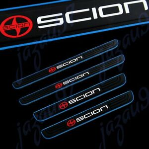 For SCION Blue B Rubber Car Door Scuff Sill Cover Panel Step Protector 4PCS NEW