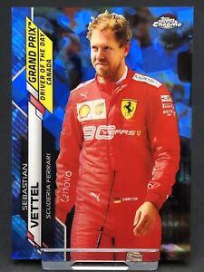 Topps Chrome Sapphire F1 Sebastian Vettel Ferrari Card Formula 1 One #160