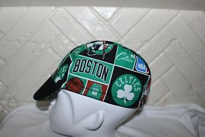 Cycling cap NBA BOSTON CELTICS one size 100% COTTON L/M/S  handmade new