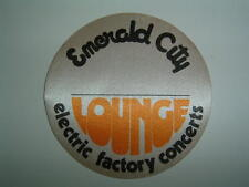 Emerald City - Electric Factory Concerts Lounge pass - Authentic - RARE!