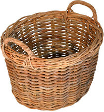 Oval Rattan Wicker Log toy, shoe Basket - for storage and carrying - FIR227R