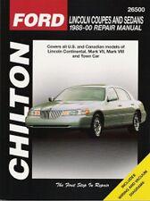 1988 - 2000 Lincoln Continental Mark VII Mark VIII Town Car Repair Manual 3148